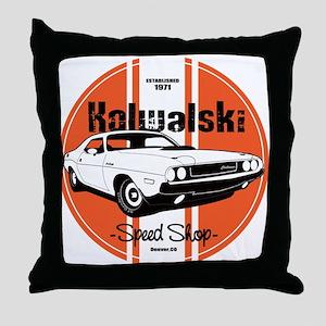 Kowolski Speed Shop Throw Pillow