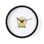 TOUSSAINT Family Crest Wall Clock