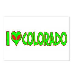 I Love-Alien Colorado Postcards (Package of 8)