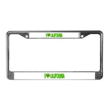 I Love-Alien California License Plate Frame