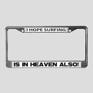 Surfing License Plate Frame
