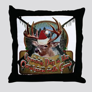 opening day is like Cristmas Throw Pillow