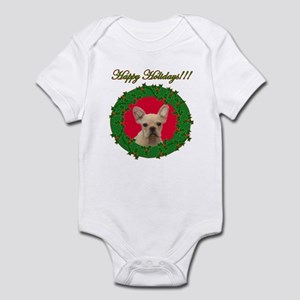 Happy Holidays French Bulldog Infant Bodysuit