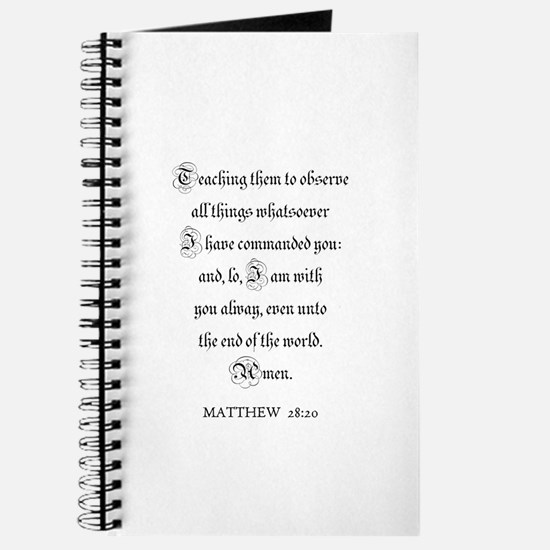 MATTHEW 28:20 Journal