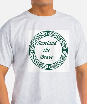 Free Scotland Arbraoth Declaration Grey T-Shirt