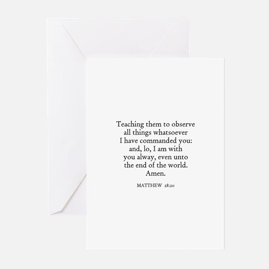 MATTHEW  28:20 Greeting Cards (Pk of 10)