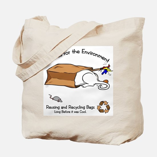 Enviro-Cat Tail End Tote Bag