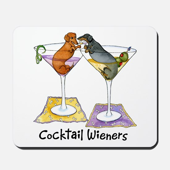 Double Cocktail Wiener Mousepad