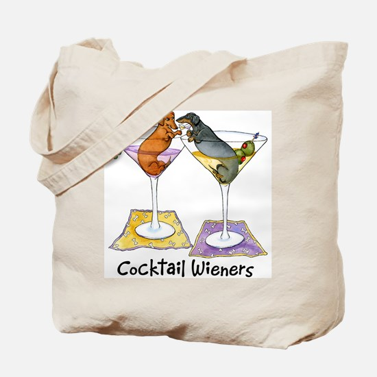 Double Cocktail Wiener Tote Bag