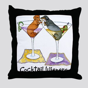 Double Cocktail Wiener Throw Pillow