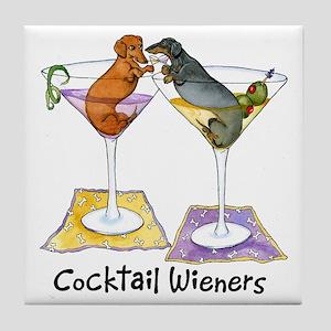 Double Cocktail Wiener Tile Coaster