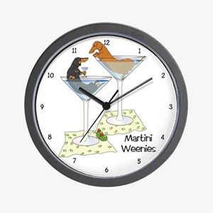 Cocktail Wieners (duo) Wall Clock