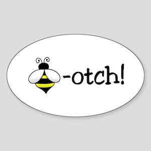 Beeotch Oval Sticker