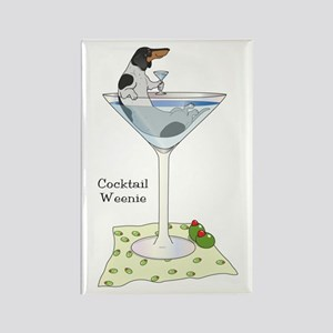 Piebald Cocktail Wiener Rectangle Magnet