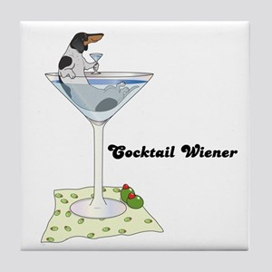Piebald Cocktail Wiener Tile Coaster