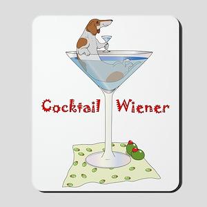 Red Piebald Cocktail Wiener Mousepad