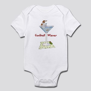 Red Piebald Cocktail Wiener Infant Bodysuit