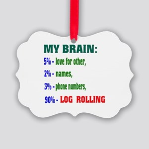 My Brain, 90% Log Rolling Picture Ornament