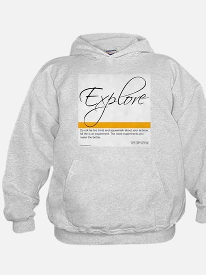 Emerson Quote - Explore - Hoodie