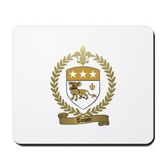 TOUPIN Family Crest Mousepad