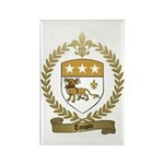 TOUPIN Family Crest Rectangle Magnet (100 pack)