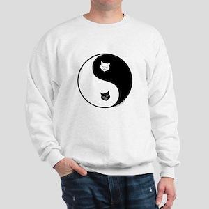 yin yang meow Sweatshirt