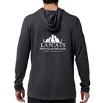 Mens Hooded Shirt - Front & Long Sleeve T-Shir