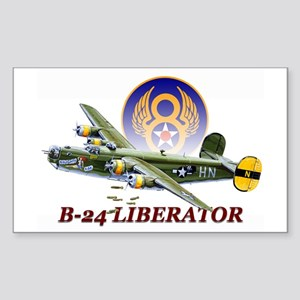 8th AF B-24 airplane Sticker (Rectangle)