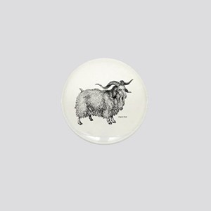 Angora Goat Mini Button