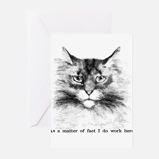 Do Work Here Greeting Cards (Pk of 20)