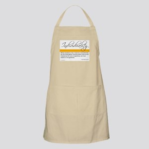 Emerson Quote - Individuality BBQ Apron