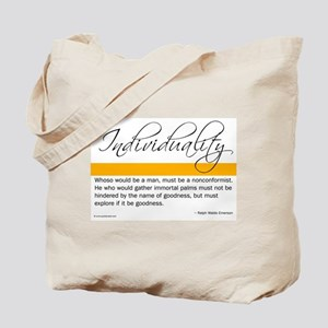 Emerson Quote - Individuality Tote Bag