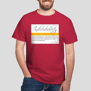 Emerson Quote - Individuality Dark T-Shirt