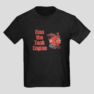 Finn Keeps on Truckin Kids Dark T-Shirt