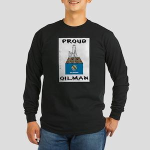 Oklahoma Oilman Long Sleeve Dark T-Shirt