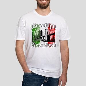 "Brooklyn""Italian Flag"" Fitted T-Shirt"