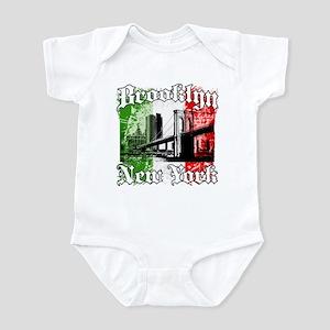 """Brooklyn""""Italian Flag"""" Infant Bodysuit"""