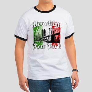 "Brooklyn""Italian Flag"" Ringer T"