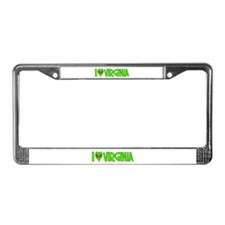 I Love-Alien Virginia License Plate Frame