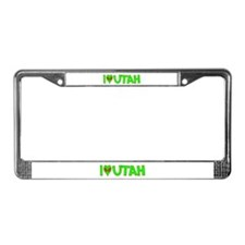 I Love-Alien Utah License Plate Frame