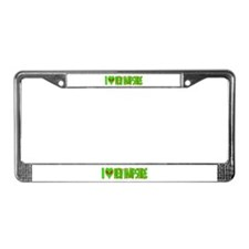 I Love-Alien New Hampshire License Plate Frame