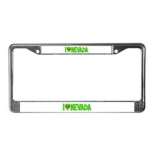 I Love-Alien Nevada License Plate Frame
