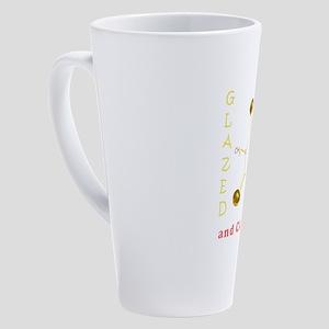 Glazed and Caffeinated 17 oz Latte Mug