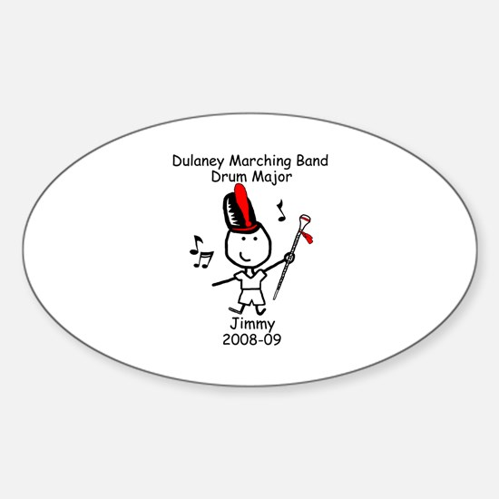Drum Major - Jimmy Oval Decal