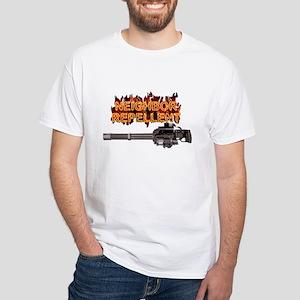 minigun repellent White T-Shirt