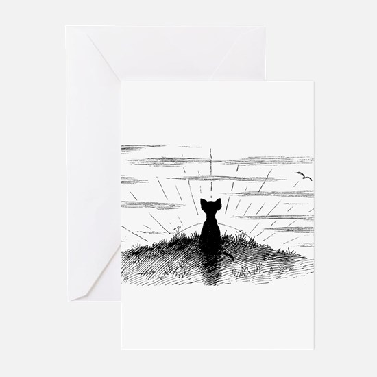 Sunset Cat Greeting Cards (Pk of 20)