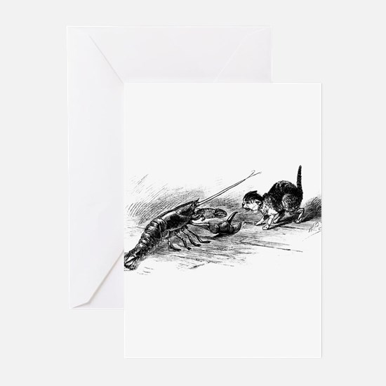 Cat with Lobster Greeting Cards (Pk of 20)