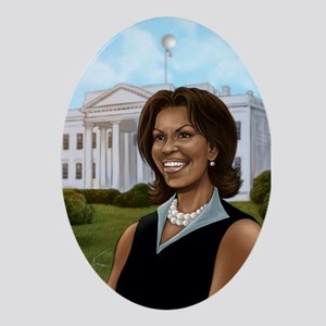 1st Lady Michelle Obama Oval Ornament