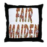 Fair Maiden Throw Pillow