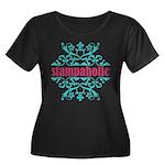 Stampaholic Women's Plus Size Scoop Neck Dark T-Sh